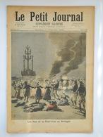 Le Petit Journal N°136 - 24 Juin 1893  - Les Feux De La Saint-Jean En Bretagne - Catastrophe De Fontainebleau à Héricy - 1850 - 1899