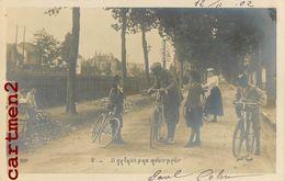 SERIE DE 9 CPA : APPRENTISSAGE DU VELO HUMOUR ENFANTS FANTAISIE COUPLE VELO CYCLISTE CYCLISME BIKE SPORT DULONG 1900 - Ciclismo