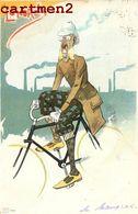 """ILLUSTRATEUR """" LONDON """" HUMOUR CARICATURE SERIE VILLE ENGLAND LONDRES VELO CYCLISTE CYCLISME BIKE SPORT 1900 - Autres"""