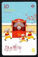 2020  CANADA, LUNAR YEAR RAT,  Booklet Domestic  Rate  MNH - Full Booklets