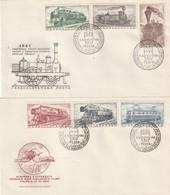 """Tschechoslowakei / 1956 / Mi. 988-993 """"Eisenbahnen"""" FDC (5487) - FDC"""
