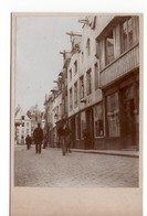 Leuven - Vismarkt Links - Mechelsestraat - Foto Opgeplakt Op Karton Met Formaat Van Ansichtkaart - 1910 - Leuven