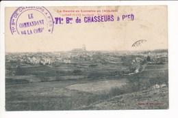 Carte De Gerbéviller Bombardé ( La Guerre En Lorraine 1914 1915 ) Cachet Militaire Du 71e Bataillon De Chasseurs à Pied - Gerbeviller