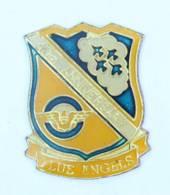 Pin's Insigne 40° ANNIVERSARY BLUE ANGELS - Blason - Avions De Chasse - Brevet - USA - J024 - Armee