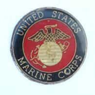 Pin's Insigne UNITED STATES MARINE CORPS - Aigle - Globe Terrestre - Ancre - USA - J026 - Armee