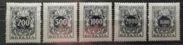Pologne 1923 / Yvert TAXE N°47-51 / * - Impuestos
