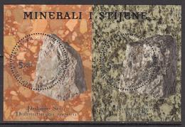 2012 Croatia Minerals Souvenir Sheet MNH - Minerals