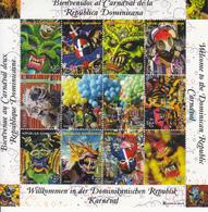 2012 Dominican Republic Carnival Masks Miniature Sheet Of 10 MNH - Repubblica Domenicana