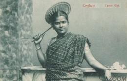 CPA  Ceylon Tamil Girl - Fille Tamoul De Ceylan - état Superbe - Costume - Sri Lanka (Ceylon)