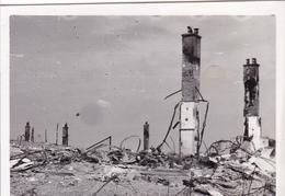 PHOTO ORIGINALE 39 / 45 WW2 WEHRMACHT FRANCE NORD LES RUINES DE LA VILLE LA BASSEE ? - Guerre, Militaire