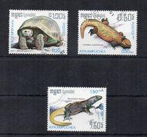 """Cambogia - 1987 - Lotto Di 3 Francobolli Tematica """" Animali """" - Usati - (FDC19460) - Cambogia"""