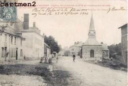 LA NEUVILLE-LES-WASIGNY EGLISE DE 1775 RUE ANIMEE 08 ARDENNES - Francia