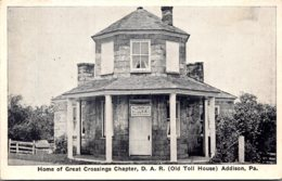Pennsylvania Addison Home Of Great Crossings Chapter D A R Old Toll House - United States