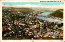 Pennsylvania Brownsville Birds Eye View 1926 Curteich - United States