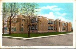 Pennsylvania Philipsburg High School 1935 Curteich - United States