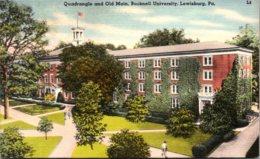 Pennsylvania Lewisburg Quadrangle And Old Main Bucknell University 1953 - United States
