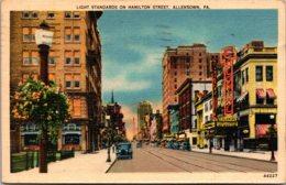 Pennsylvania Allentown Light Standards On Hamilton Street 1939 - United States