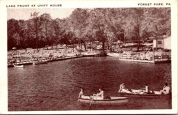 Pennsylvania Forest Park Lake Front At Unity House 1947 - United States
