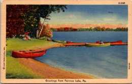 Pennsylvania Greetings From Fairview Lake 1957 Curteich - United States