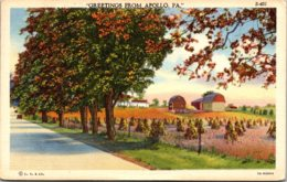 Pennsylvania Greetings From Apollo 1942 Curteich - United States