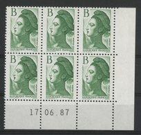 N° 2483 ** (MNH). Coin Daté Du 17/06/87. TB - Angoli Datati