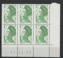 N° 2615 ** (MNH). Coin Daté Du 23/11/89. TB - Angoli Datati