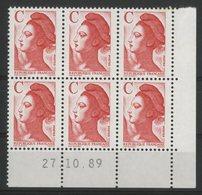 N° 2616 ** (MNH). Coin Daté Du 27/10/89. TB - Angoli Datati