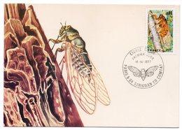 Carte Maximum 1977 - Cigale Rouge - YT 1946 - Paris & 84 Sérignan Du Comtat - 1970-79
