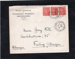 LSC 1931  - Entête Société Alsacienne De Constructions Mécanique à GRAFFENSTADEN - Cachets ILLKIRCH-GRAFFEENSTADEN - 1921-1960: Periodo Moderno