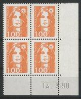 N° 2620 ** (MNH). Coin Daté Du 14/3/90. TB - 1990-1999