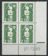 N° 2622 ** (MNH). Coin Daté Du 20/12/89. TB - Coins Datés