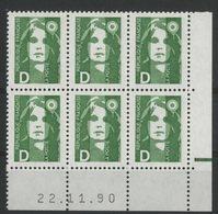 N° 2711 ** (MNH). Coin Daté Du 22/11/90. TB - 1990-1999