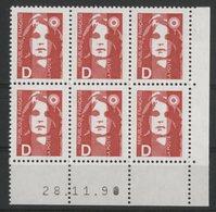 N° 2712 ** (MNH). Coin Daté Du 28/11/90. TB - 1990-1999