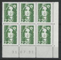 N° 2714 ** (MNH). Coin Daté Du 31/07/91. TB - 1990-1999