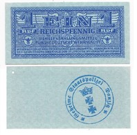 Geheime Staatspolizei DANZIG 1 REICHSPFENNIG Type 1942' , Billet Neuf - Other