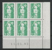 N° 2790 ** (MNH). Coin Daté Du 11/01/93. TB - 1990-1999