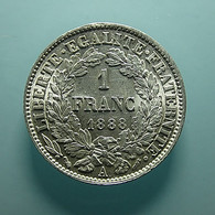 Portugal 1 Franc 1888 A Silver (Used As 200 Reis In Portugal Before) - Portugal