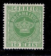 ! ! Mozambique - 1881 Crown 10 R (Perf. 13 1/2) - Af. 10 - MH - Mozambique