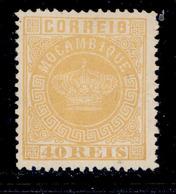 ! ! Mozambique - 1881 Crown 40 R (Perf. 13 1/2) - Af. 13a - No Gum - Mozambique