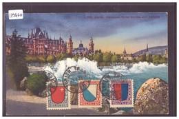 CARTE MAXIMUM - ZÜRICH - SERIE PRO JUVENTUTE 1920 AVEC ARMOIRIE DU CANTON - TB - ZH Zurich