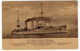 S.M.S. Kleiner Kreuzer Nurnberg; Kaiserliche Marine Fiume Stamp - Warships