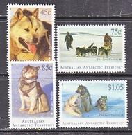 AAT  L  90-93    *   DOGS  HUSKIES  DOG  SLEDS - Unused Stamps