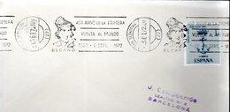 LETTRE ESPAGNE 1972 - OBLIT. MECANIQUE - 450E ANNIV. DU PREMIER TOUR DU MONDE = ELCANO - - Explorers