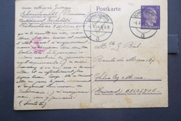 Deutsches Reich: 1944 Censored Postal Card To Belgique (#EY2) - Germany