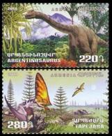 2018Armenia1091-1092Prehistoric Animals - Dinosaurs - Prehistorics