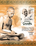 Peru 2020 150th Anniversary Birth Of Mahatma Ghandi - Peru