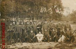 CARTE PHOTO : LE 38eme REGIMENT D'INFANTERIE SOLDATS MILITAIRE GUERRE POILUS - Weltkrieg 1914-18