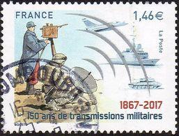 Oblitération Cachet à Date Sur Timbre De France N° 5172 - 150 Ans De Transmissions Militaires - Frankreich