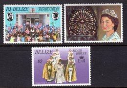 BELIZE - 1977 SILVER JUBILEE SET (3V) FINE MNH ** SG 449-451 - Belize (1973-...)