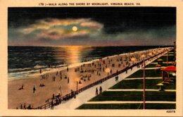 Virginia Virginia Beach Walk Along The Shore By Moonlight - Virginia Beach